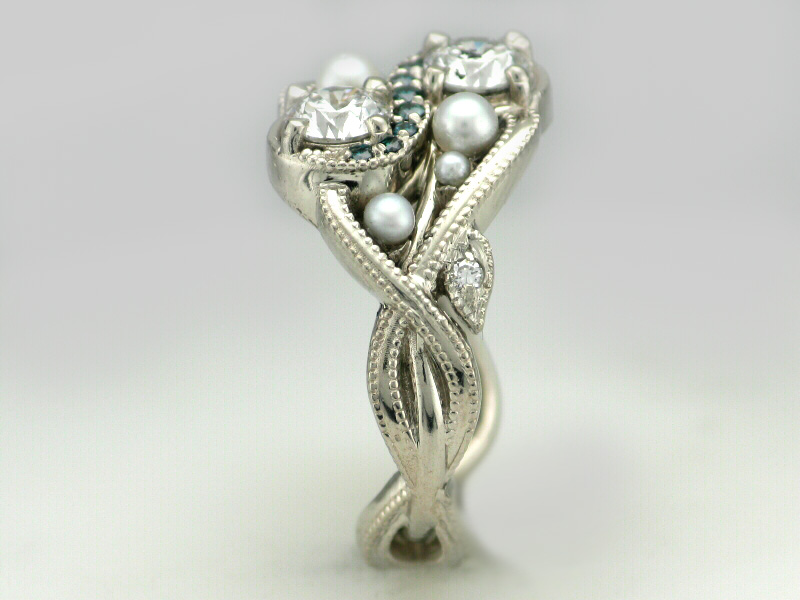 conch ring diamond pearls engagement pearl from and edwardian austria