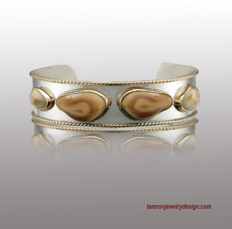 Elks Tooth Two Tone Bracelet Tamron Jewelry